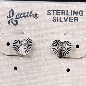 Diamond-Cut Solid .925 Sterling Silver Earrings